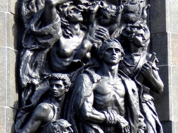 Warschau Denkmal der Helden des Warschauer Ghettos