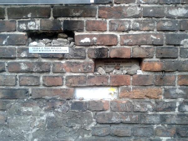 Warschauer Ghetto Mauer