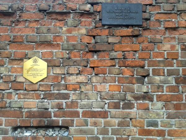 Warschauer Ghetto Reste der Mauer