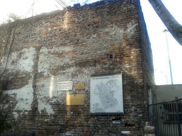 warschau ghetto Mauer
