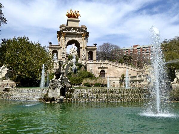 Brunnen Parc de la ciutadella Barcelona