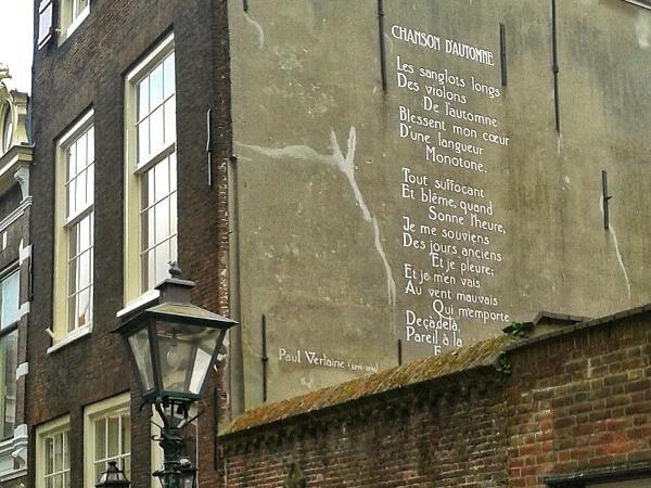Gedichte an der Wand Leiden verlaine