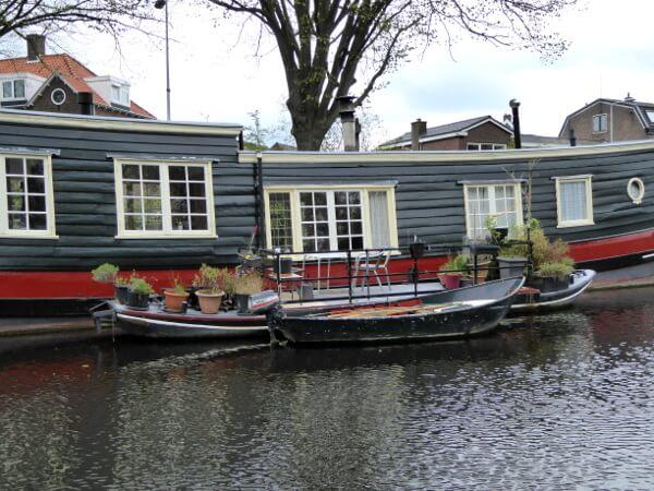 Hausboote Wohnboot Leiden Kanal