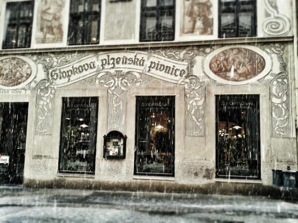 Schnee in Brno