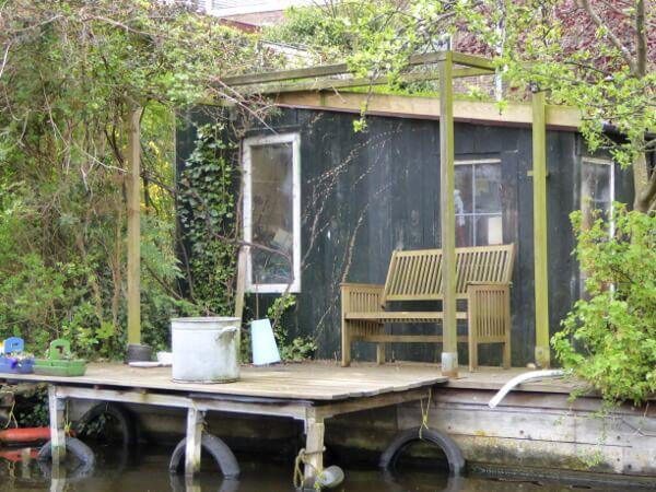 bootstour am Ufer der kanäle Holland