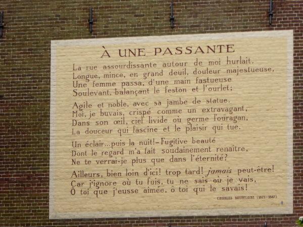 gedichte an der Mauer Leiden baudelaire