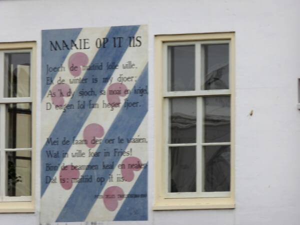 gedichten op de muur leiden niederländisch