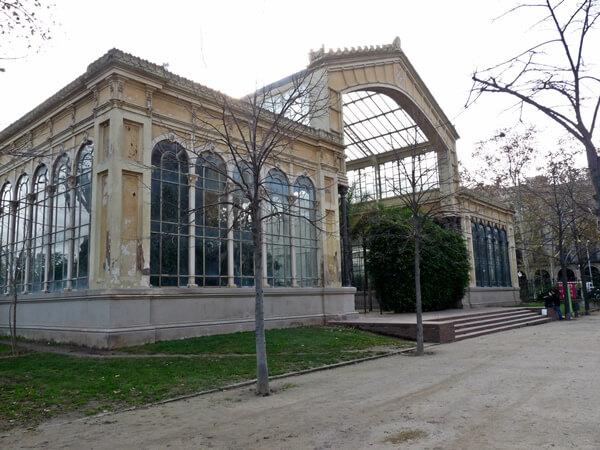 hivernacle im winter parc de la ciutadella barcelona