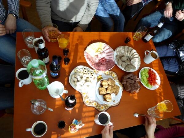 reich gedeckter Tisch Gastfreundschaft Tschechien
