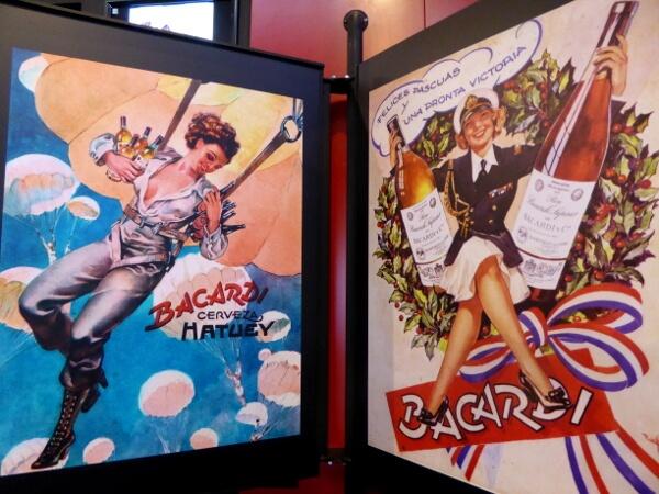 Bacardi Plakate fünfziger jahre