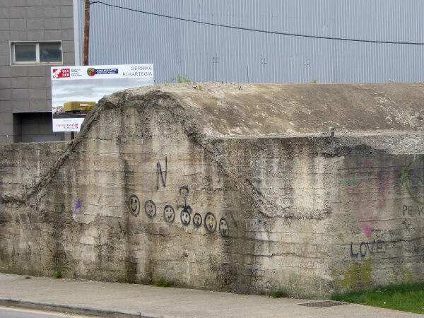 alter bunker in Guernica