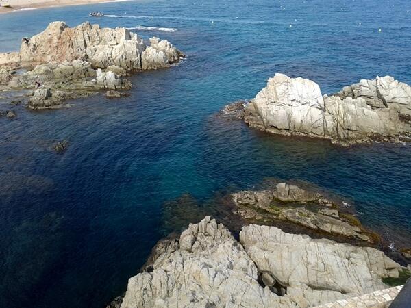 felsen küste Lloret de Mar costa brava