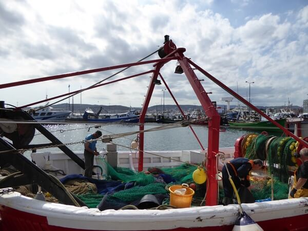 fischer boot entlanden palamos