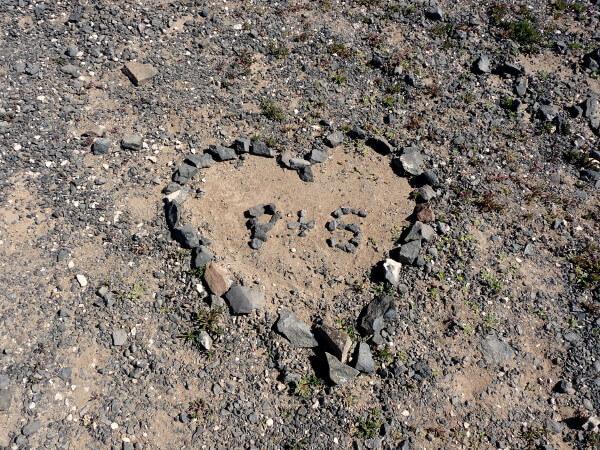 playa papagayo Lanzarote Herzen aus Stein