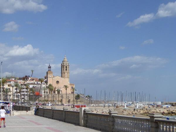 sitges Promenade Strand
