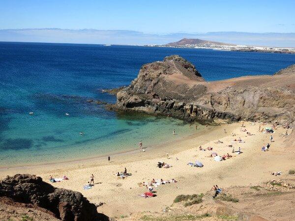 strand playa Papagayo Februar Lanzarote