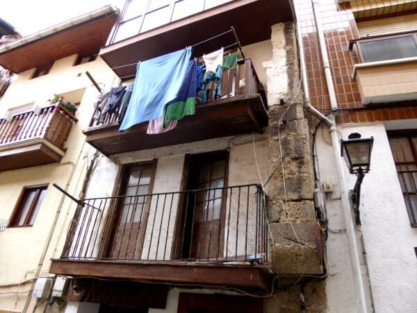 wäsche Fenster Lekeitio bizkaia Baskenland