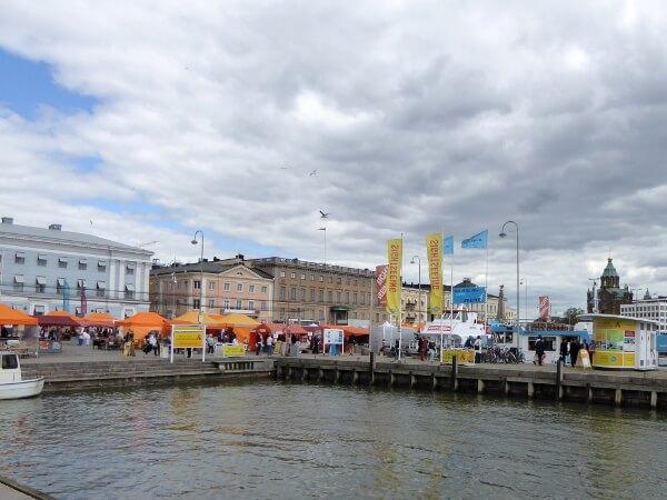 Helsinki Markt Kauppatori Stände