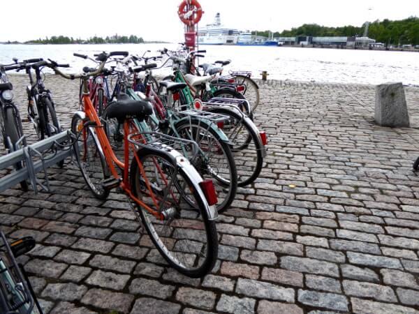 Helsinki Räder im Hafen
