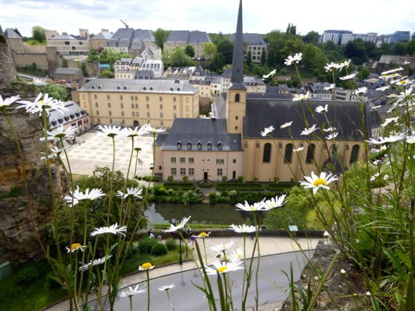 Luxemburg UNESCO Blick auf die Altstadt
