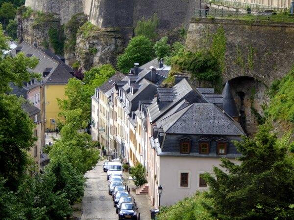 Rande der Altstadt Luxemburg