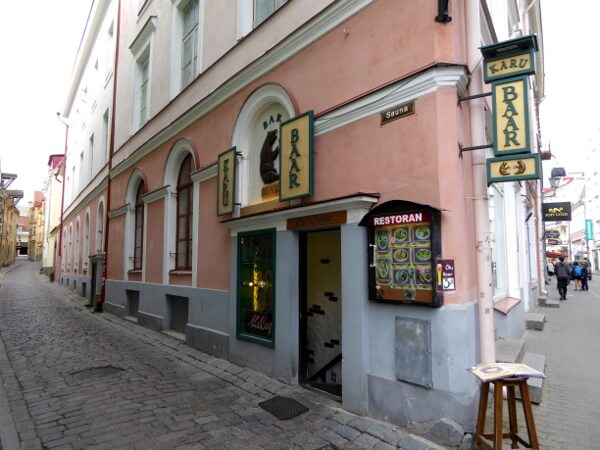 Tallinn Altstadt Sauna Strasse