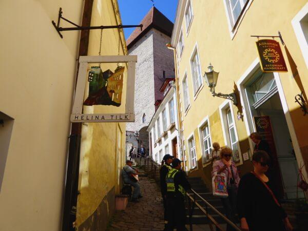 Tallinn gassen Altstadt Domberg
