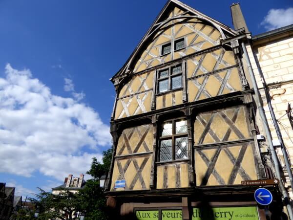 Frankreich Fachwerk Altstadt