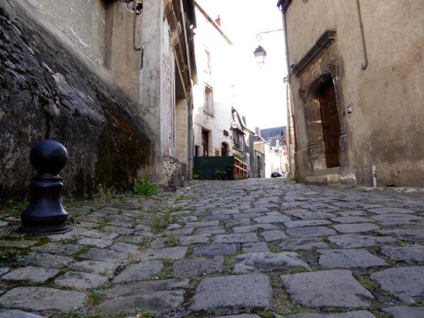 Bourges Frankreich Kopfsteinpflaster