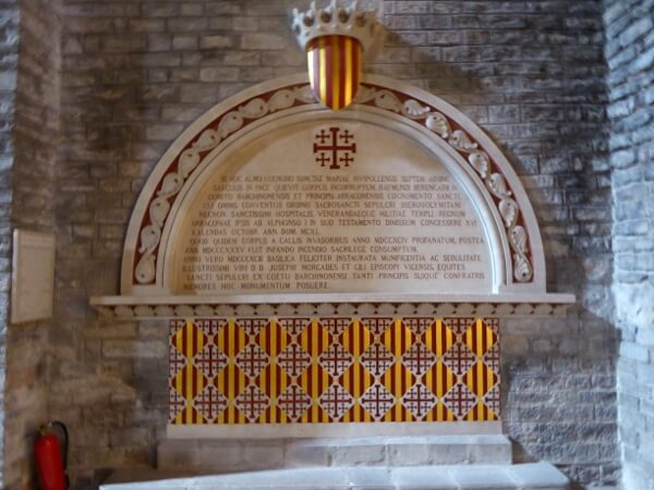 Ramon Berenguer IV Gedenkplatte Kloster Ripoll