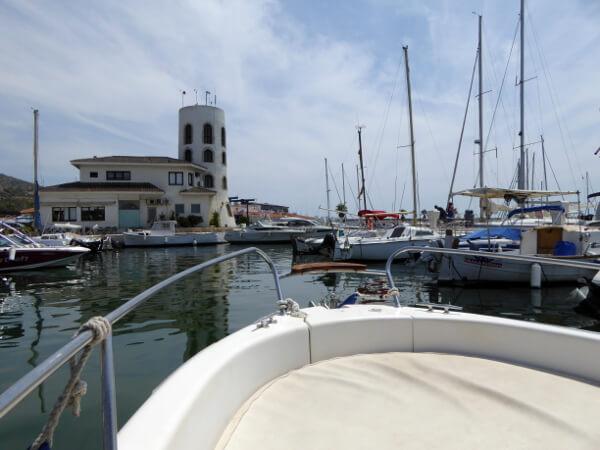 Sitges Hafen boot