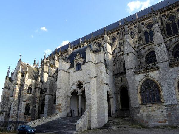 bourges Seite Kathedrale