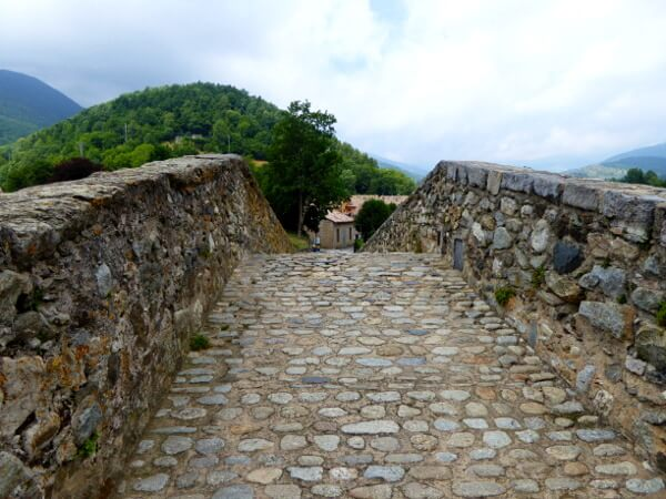 camprodon romanische brücke oben