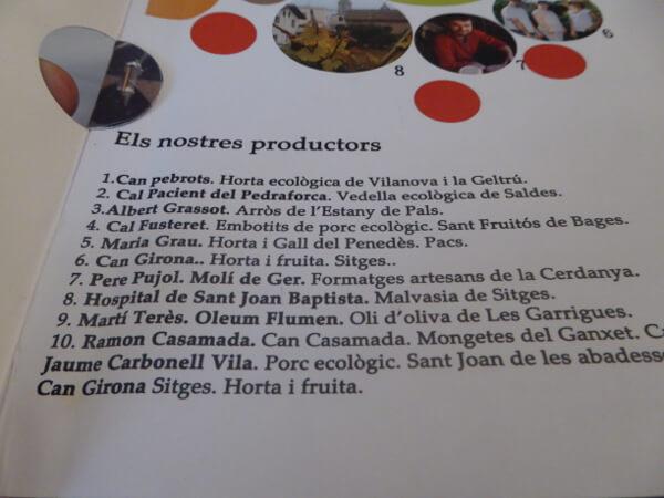 slow food sitges Karte La Salseta