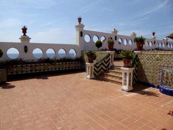 terrasse Palau Maricel Sitges