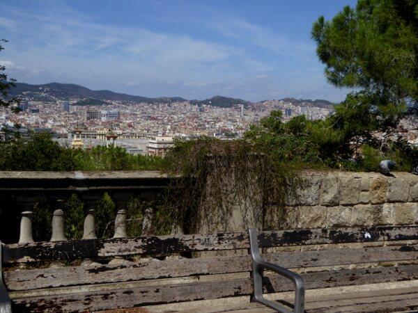 Barcelona Auf dem Weg zum Miro Museum Montjuic
