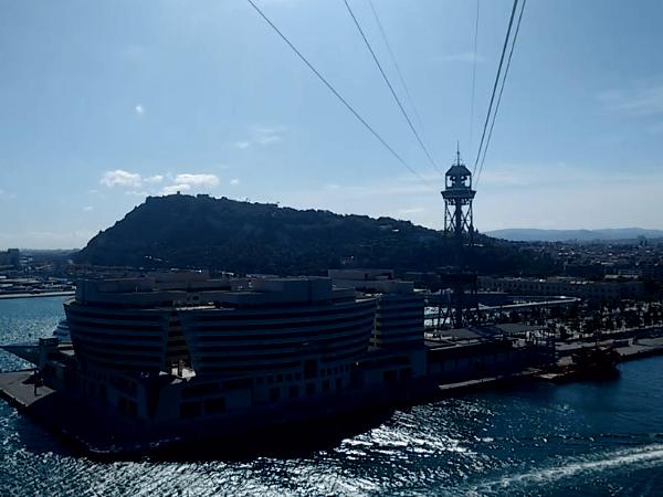 Barcelona Ausschnitt Hafen WTC