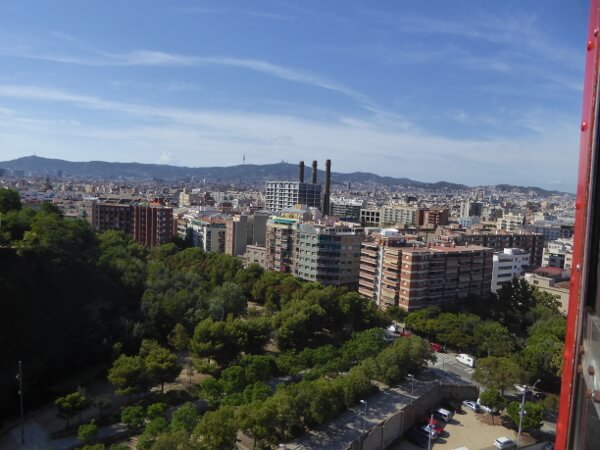 Barcelona Seilbahn Blick auf Raval