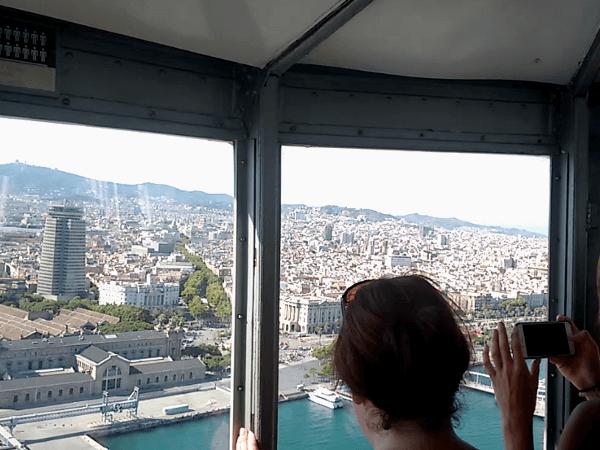 Barcelona Seilbahn Hafen Aussicht