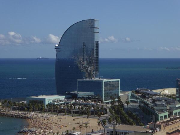Barcelona Seilbahn Hafen Hotel vela