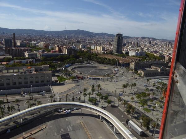 Barcelona Seilbahn plaça drassanes