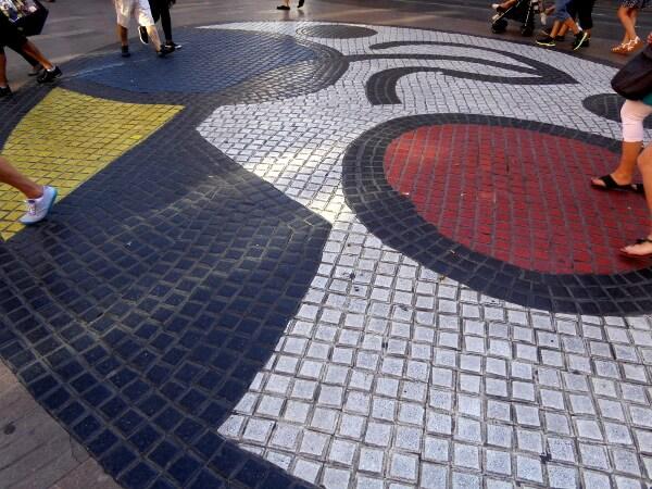 Miro Barcelona La Rambla Paviment del pla de l'os