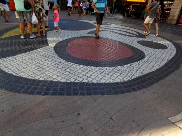 Miro Barcelona Paviment del pla de l'os rambla