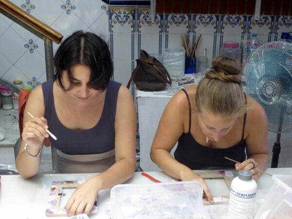 elena mosaik basteln kreativ in barcelona