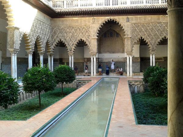 Alcazar Sevilla Patio Doncellas