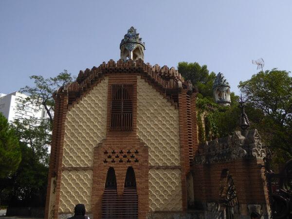 Barcelona Pavellons Güell Gaudi Eingang