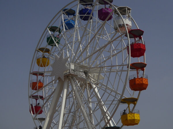 Barcelona Tibidabo Freizeitpark Riesenrad