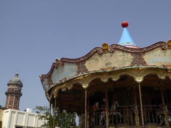 Barcelona Tibidabo Vergnügungspark Karussel