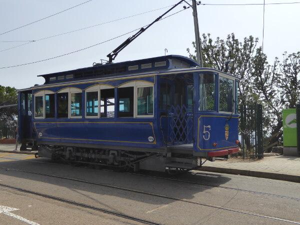 Barcelona Tibidabo tramvia Blau