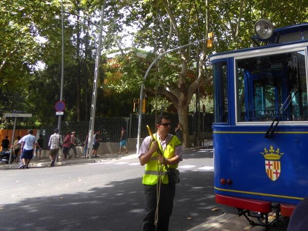Barcelona Tramvia Blau Antike Strassenbahn